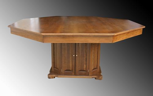 Superieur Ricku0027s Custom Built Poker Table Octagon Cherry Formal Dining Top