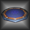 "68"" Decagon Custom Poker Table"