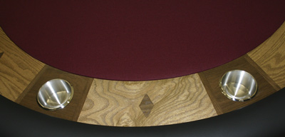 Walnut Diamond Inlays In chip Boards