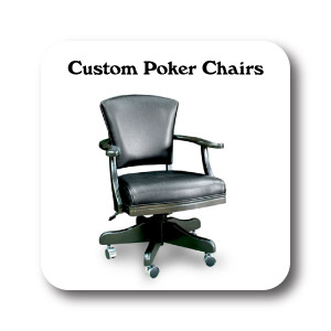 Matching Custom Poker Chairs, Custom Game Chairs