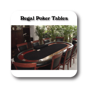 Regal Custom Poker Tables--Decagon Poker tables, Octagon Poker Tables, Round Poker Tables, Contemporary  Poker Tables